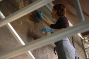 Nettoyage des peintures du réfectoire Vauban - Invalides, Paris