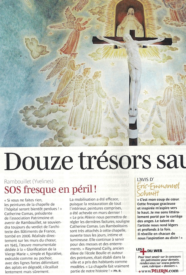 Article de Pèlerin magasine sur la restauration de la chapelle